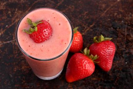 Milkshake aux fruits rouges